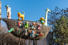 Noah's Ark Vessel Statue Stock Image