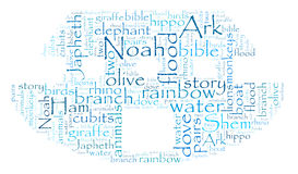 Noah's Ark Word Cloud Royalty Free Stock Image