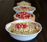 Noah`s pudding is a turkish dessert stock photography