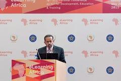 Noah Samara, Chairman and CEO, Yazmi, USA delivers a keynote spe Royalty Free Stock Photos