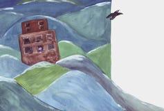 Noah y el cuervo stock de ilustración