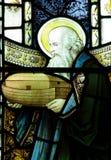 Noah y su arca en vitral Imagen de archivo