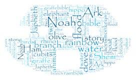 Noahs Arche-Wort-Wolke Lizenzfreies Stockbild