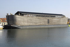 Noahs ark ship. KOGE (K�GE) /DENMARK- Noahs ark ship duck at Koge danish provience town Noahs ark is floating bible stories about Noah and his ark animals and Royalty Free Stock Photography