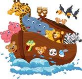 Noahs tillflykttecknad film Royaltyfri Bild