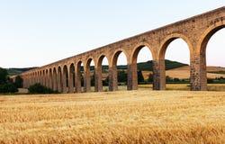 Noain aqueduct near Pamplona Royalty Free Stock Photos