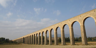 Noain's Roman aqueduct, Navarre, Spain. Stock Images