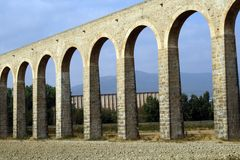 Noain's Roman aqueduct, Navarre, Spain. Stock Photos
