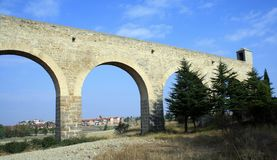 Noain's Roman aqueduct, Navarre, Spain. Stock Photography