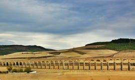 Noain Roman aqueduct near Pamplona, Navarre, Spain. Stock Image