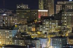 Nob Hill Night. SAN FRANCISCO, CALIFORNIA - JAN 13:  Editorial view of San Francisco's Nob Hill tourist district at night Royalty Free Stock Photo