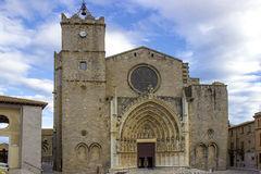 Nobady high and old church in north of spain Stock Image