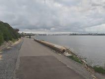 Nobby& x27 ; Australie de Newcastle de plage et de promontoire de s Photo libre de droits