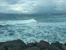 Nobby& x27 ; Australie de Newcastle de plage et de promontoire de s Photo stock