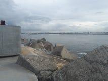 Nobby& x27 ; Australie de Newcastle de plage et de promontoire de s Images libres de droits