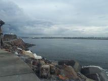 Nobby& x27 ; Australie de Newcastle de plage et de promontoire de s Photographie stock libre de droits