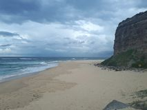 Nobby& x27;s beach and headland Newcastle Australia Royalty Free Stock Photography