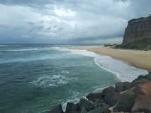 Nobby& x27;s beach and headland Newcastle Australia Stock Photography