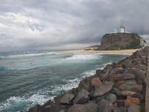 Nobby& x27;s beach and headland Newcastle Australia Stock Photo
