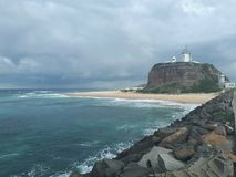 Nobby& x27;s beach and headland Newcastle Australia Royalty Free Stock Image