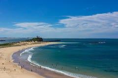 Nobbys Beach at Newcastle Australia.Newcastle is Australia`s sec. Ond oldest city stock images