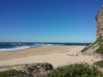 Nobbys Headland and Beach, Newcastle Australia Royalty Free Stock Photography