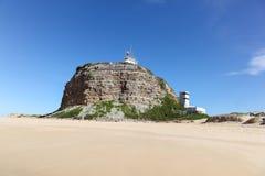 Nobbys-Leuchtturm Newcastle Australien Lizenzfreies Stockfoto