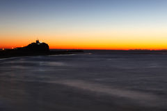 Nobbys Lighthouse at Dawn Newcastle Australia Royalty Free Stock Photography