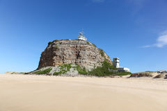 Nobbys Lighthouse Newcastle Australia Royalty Free Stock Photo