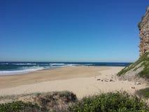 Nobbys Przylądkowy i Plażowy, Newcastle Australia fotografia royalty free