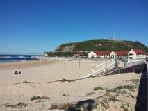 Nobbys strand, Newcastle Australien Royaltyfria Foton