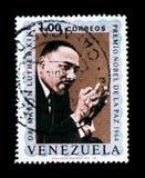 Nobel för fred 1964, Martin Luther King serie, circa 1969 royaltyfria bilder