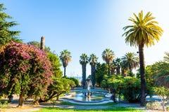 Nobel fa il giardinaggio con una fontana nella priorità alta, Sanremo, Italia Immagine Stock Libera da Diritti