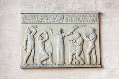 Nobel memorial plaque on the wall in Stockholm Stock Photo
