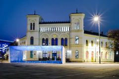 Nobel Peace Centre at night, located by the waterfront at Aker Brygge, Oslo Stock Image