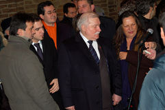 Nobel peace prize Lech Walesa in Parma Stock Image