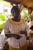 Nobel Peace Prize winner, Wangari Maathai at Norfolk hotel meeting in Nairobi, Kenya, Africa Royalty Free Stock Image