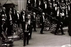 NOBEL PRIZE CEREMONY IN STOCKHOLM SWEDEN Royalty Free Stock Photography
