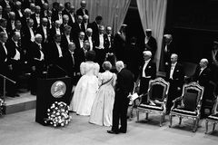 NOBEL PRIZE CEREMONY IN STOCKHOLM SWEDEN Royalty Free Stock Image