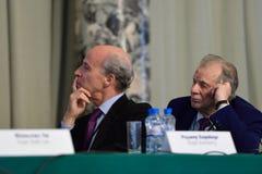 Nobel Prize Laureates Roger Kornberg and Zhores Alferov Royalty Free Stock Images