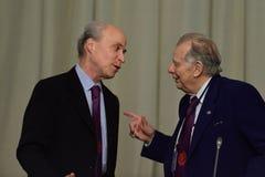 Nobel Prize Laureates Roger Kornberg and Zhores Alferov Stock Photography