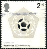 Nobel Prize 100th Anniversary UK Postage Stamp Royalty Free Stock Image