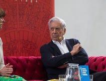 Nobelpreis laureat in der Literatur Mario Vargas Llosa auf Buch-Welt Prag 2019 lizenzfreies stockbild