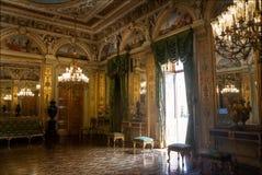 Nobelt rum på den Catete slotten, den tidigare presidentpalatset inhyser nu republikmuseet - Rio de Janeiro, Brasilien royaltyfria bilder