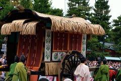 Nobila oxcart przy Jidai Matsuri paradą, Japonia Zdjęcie Stock