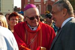 Nobile Karel Schwarzenberg che visita il pellegrinaggio nazionale in Boleslav Czech Republic anziano 28 9 2017 Fotografie Stock