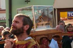 Nobile Karel Schwarzenberg che visita il pellegrinaggio nazionale in Boleslav Czech Republic anziano 28 9 2017 Fotografia Stock