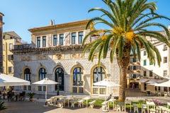 Nobile Teatro di San Giacomo di Corfu Arkivbilder