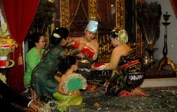 THE NOBILITIES OF SURAKARTA PALACE Stock Images