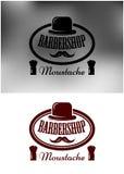 Noble Barber Shop-Ikone, -emblem oder -aufkleber Stockfotografie